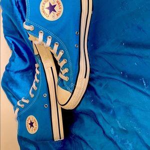 Blue Converse High Tops